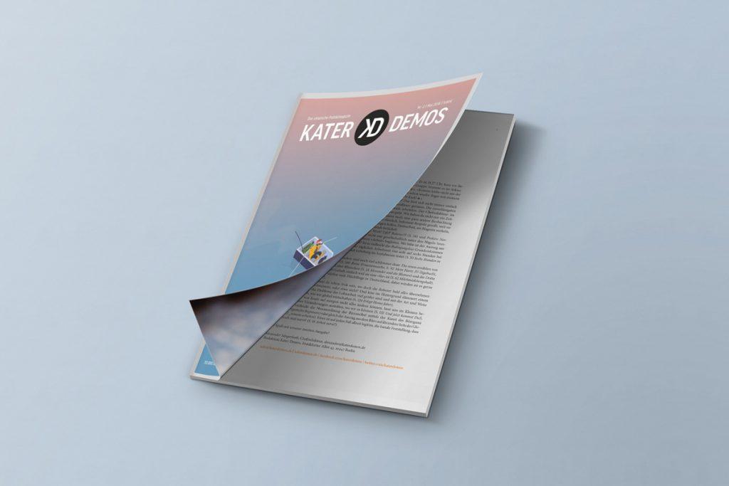 """Cover der zweiten Ausgabe von Kater Demos zum Thema """"Arbeit"""""""