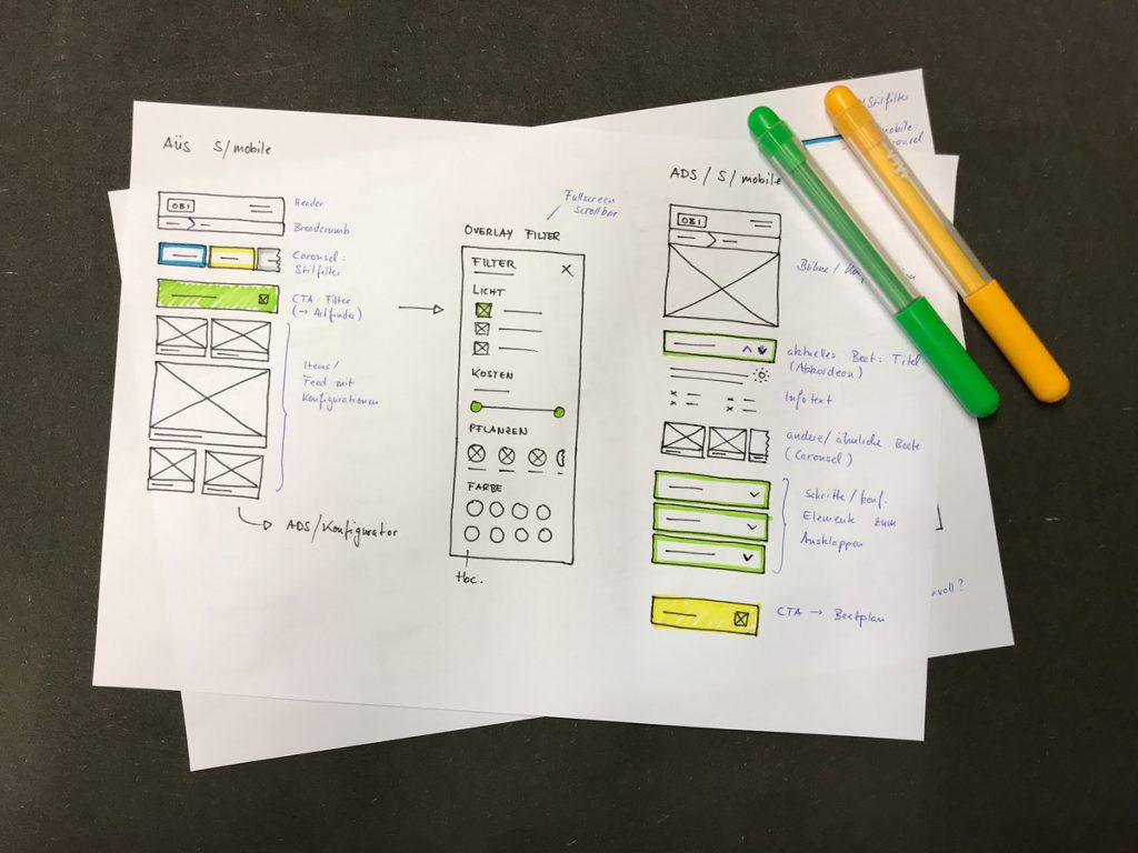OBI Beetplaner – Skizze mit Modulen