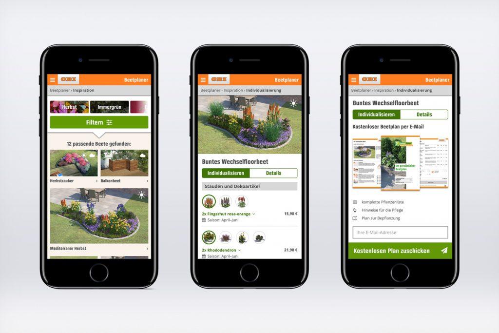 OBI Beetplaner – mobil auf dem Smartphone