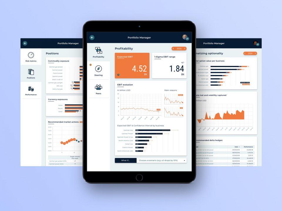 Screendesigns auf einem Tablet