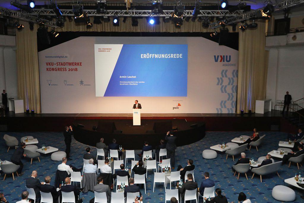 Stadtwerkekongress 2018 – Armin Laschet auf der Bühne