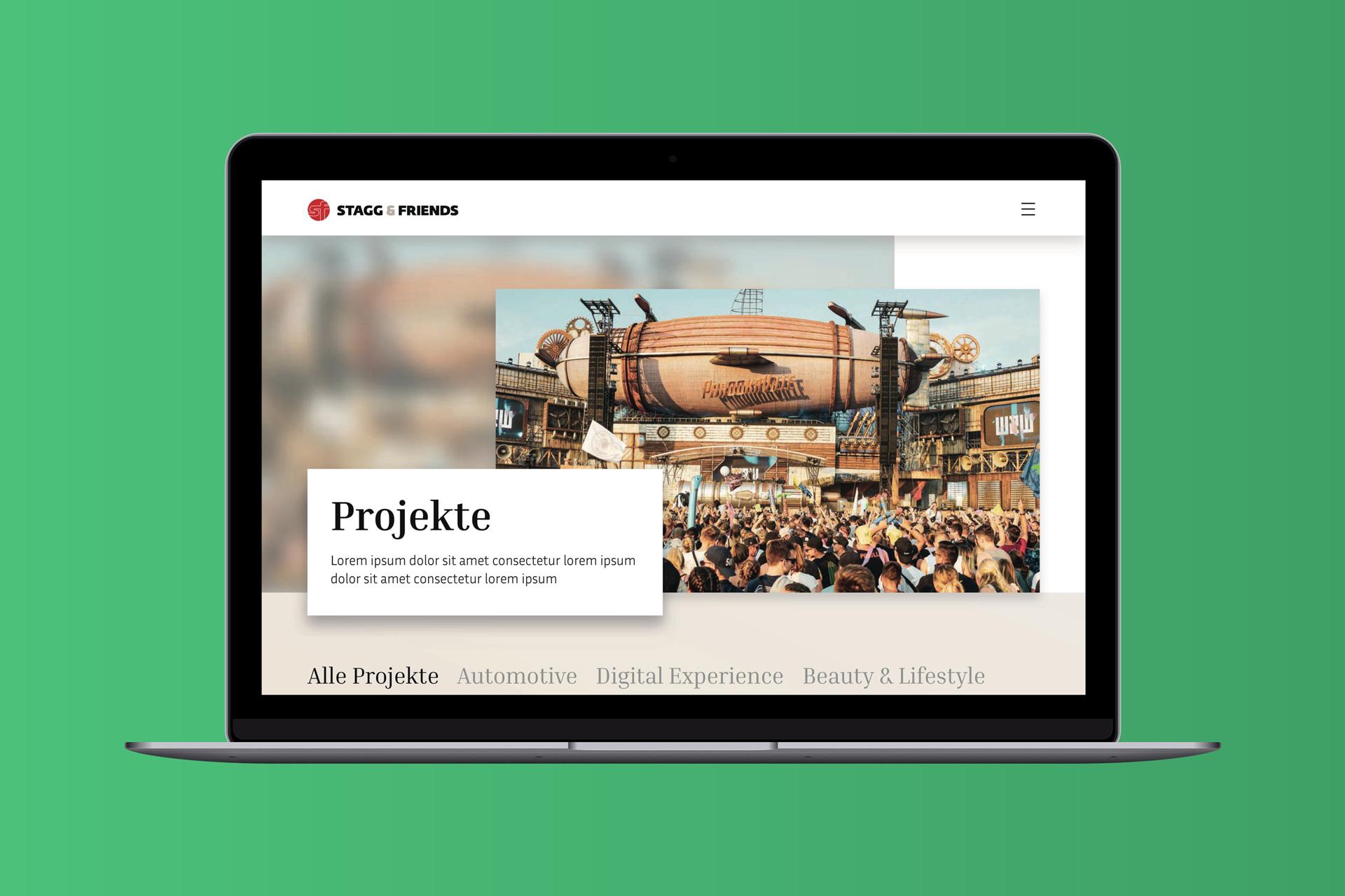 Webdesign für Stagg & Friends